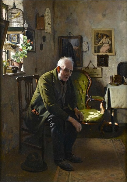 the empty chair-Charles Spencelayh