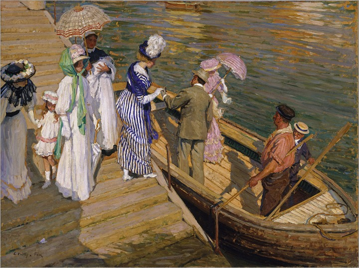 The Ferry - 1911 - Emanuel Philips Fox (australian painter)