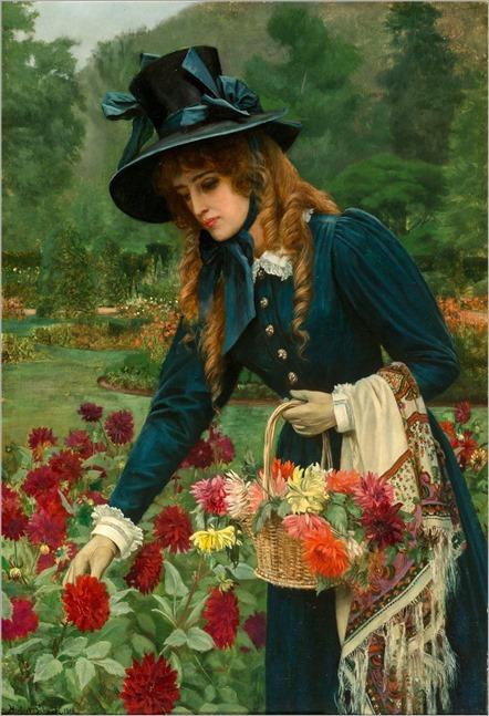 The flower girl_Herbert Gustave Schmalz (british, 1856-1935)
