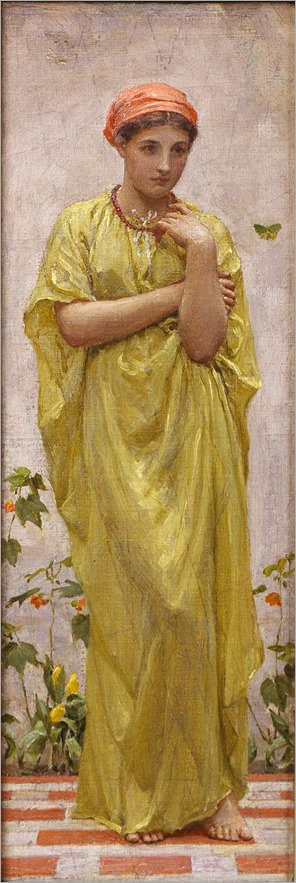 The Green Butterfly, c. 1878-81 by Albert Joseph Moore (1841-1893)