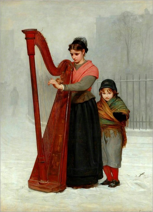 The Orphans (1870). Philip Hermogenes Calderon, RA (British, 1833-1898)