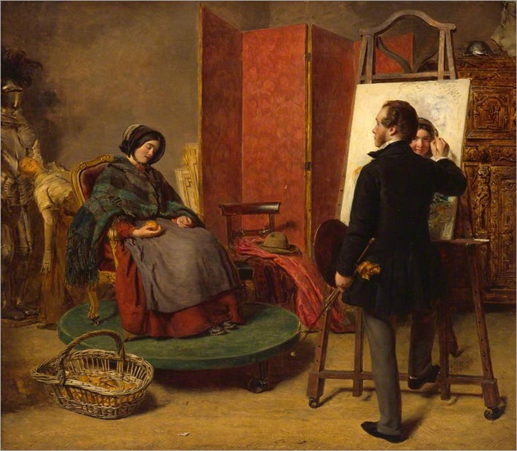 The Sleeping Model William Powell Frith - 1853