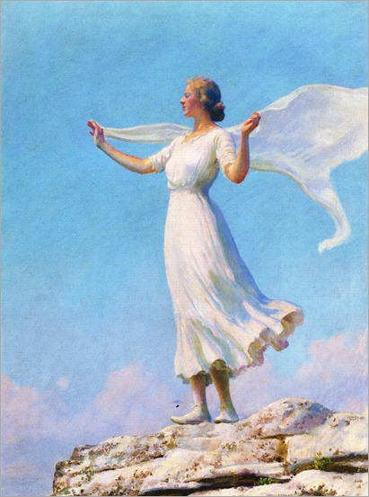 the south wind-Charles Courtney Curran