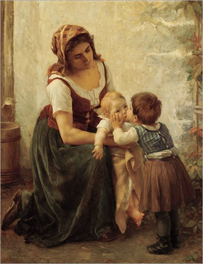 This Kiss (Mother and Children)_Timóleon Marie Lobrichon
