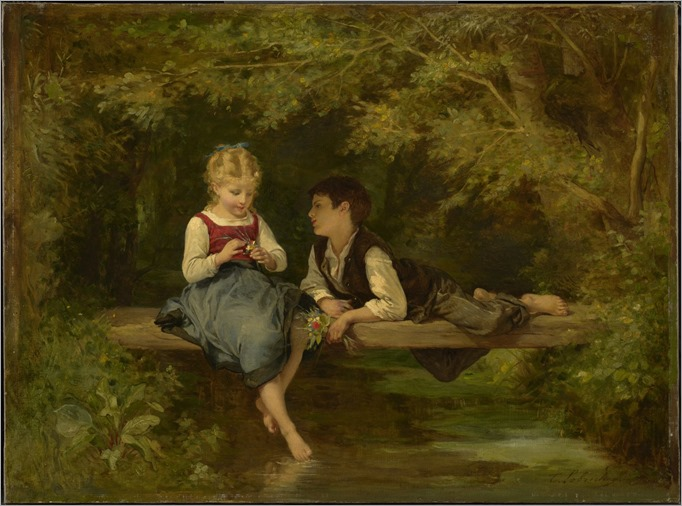 timóleon lobrichon (french, 1831-1914) first love