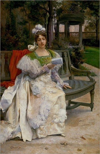 Woman in a Garden Julius LeBlanc Stewart - 1896