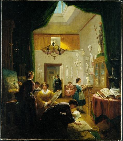 Women's Art Class (c.1868). Louis Lang (American, 1814-1893)