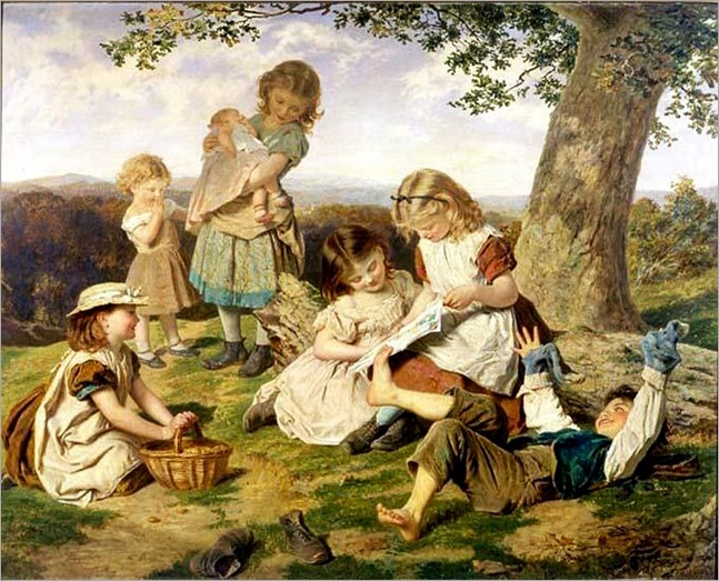 Anderson, Sophie (1823-1903)  The childrens story book