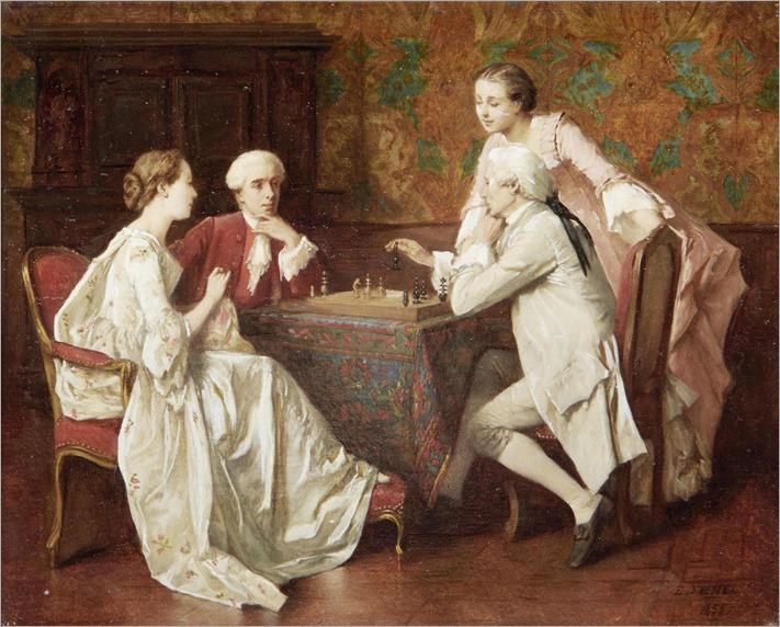 Benjamin Eugène Fichel (1826 - 1895) - Game of chess, 1855
