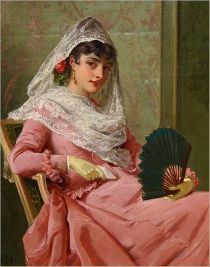 Edward Charles Barnes (british painter) - a spanish beauty