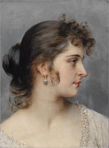 EUGEN VON BLAAS (Albano 1843–1931 Venice) Portrait of a young Venetian girl_750x1024