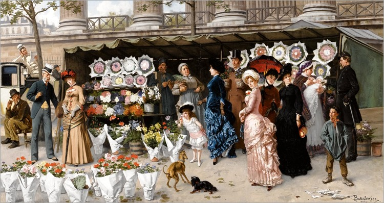 Flower Market At La Madeleine,Paris_Ladislaus Bakalowicz