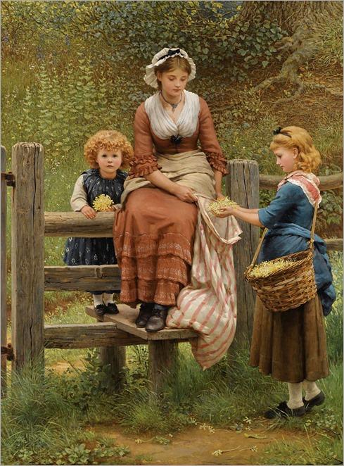George Dunlop Leslie (1835-1921)-Cowslips