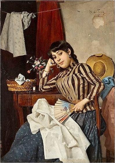 Giulio del Torre (italian, 1856-1932), Venetian Dressmaker, c. 1890