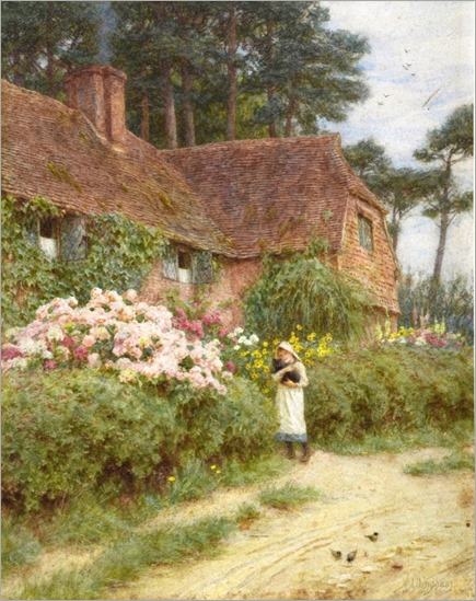 hydrangea-cottage-by-helen-allingham