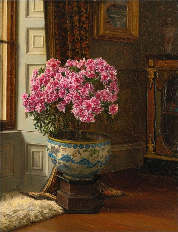 Jessica Hayllar (1858 - 1940) A DOUBLE PINK AZALEA