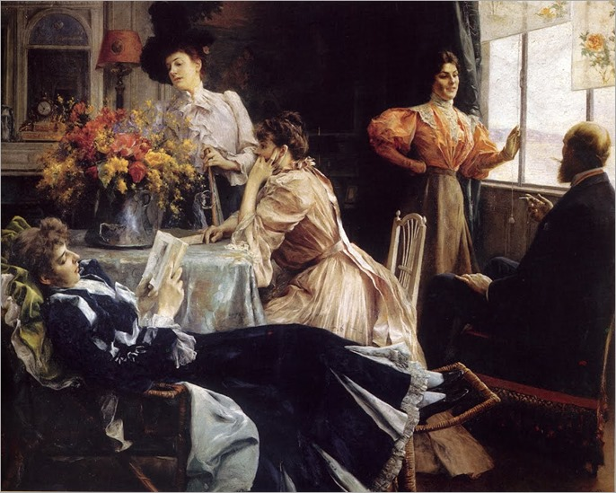 Julius LeBlanc Stewart (1855-1919) At Home