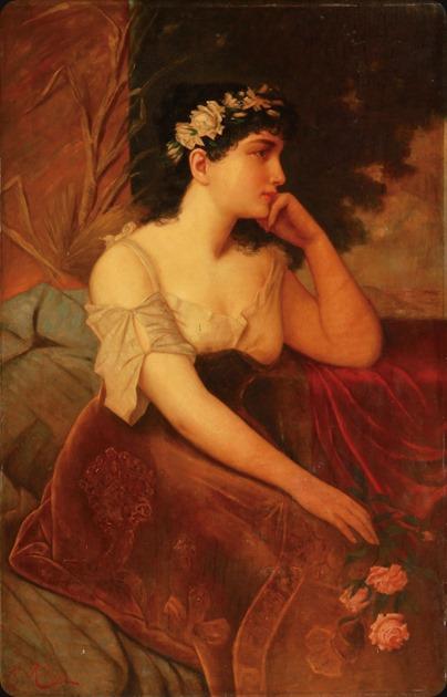 Karl Kaufmann (1843 - 1902_5) - A Pensive Beauty