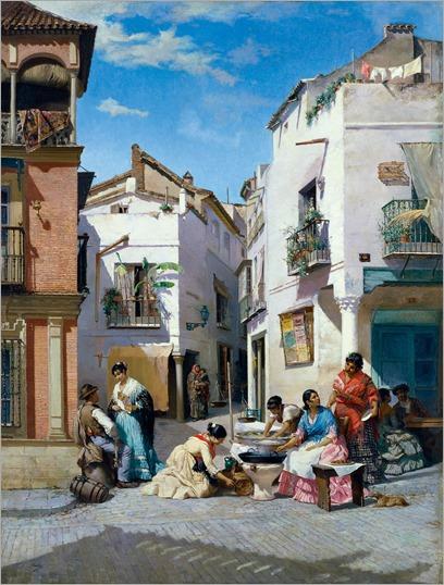 Las vendedoras de rosquillas, de Manuel Wssel de Guimbarda