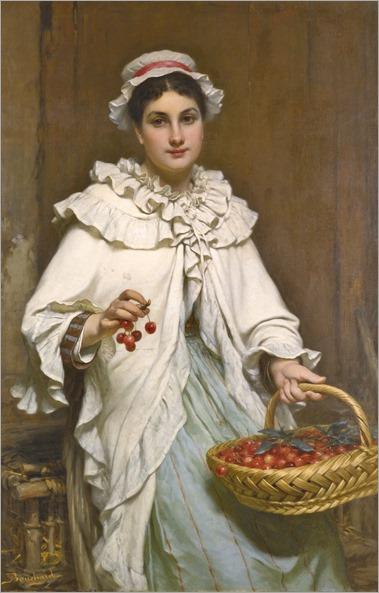 PIERRE-FRANÇOIS BOUCHARD FRENCH 1831-1889. LA CUEILLEUSE DE CERISES