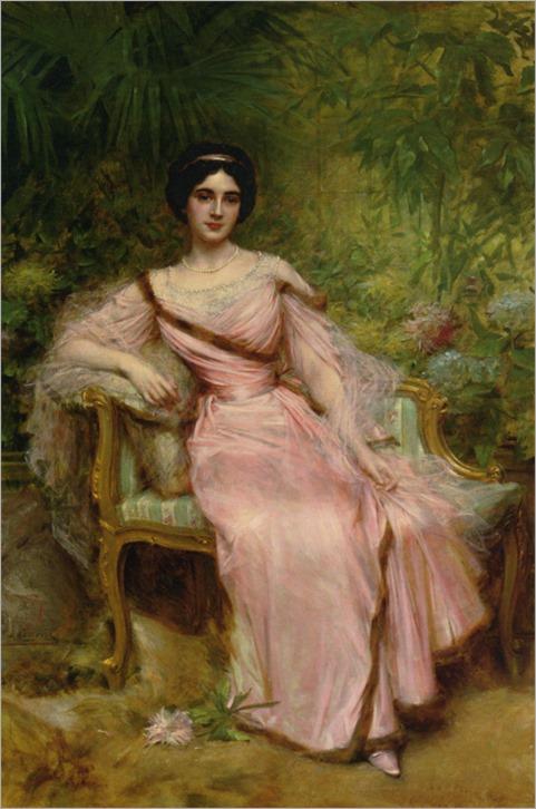 Portrait of Suzanne Hudelo -by - Hermann Jean Joseph Richir