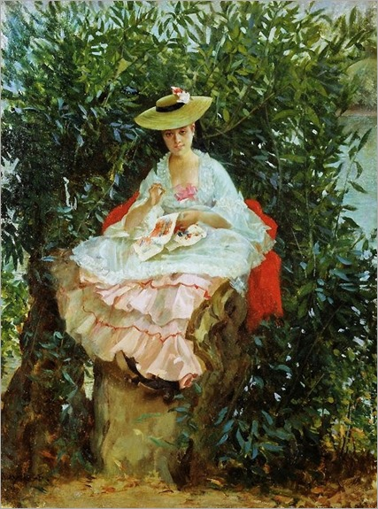 Sewing - Julien Gabriel Guay (french painter)