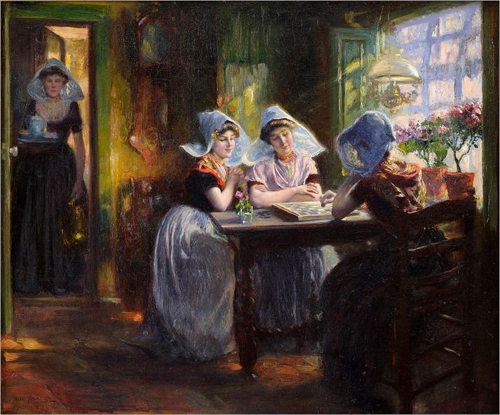 Silbert, Max (Odessa 1871 - 1930 Paris) - Die Partie-Mühle (La partie d'echecs)