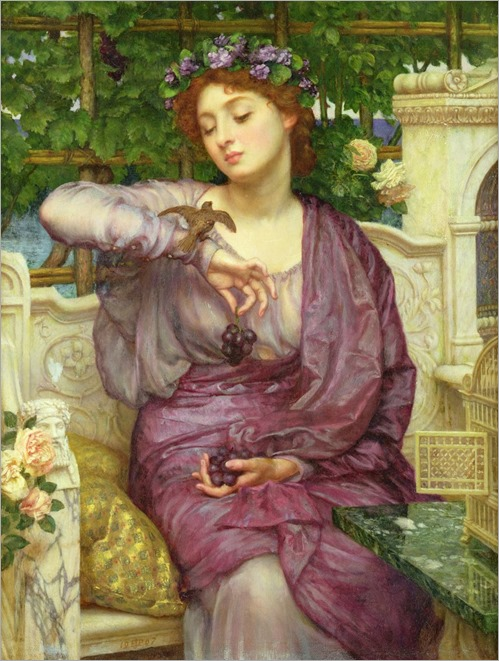 sir-edward-john-poynter-lesbia-and-her-sparrow