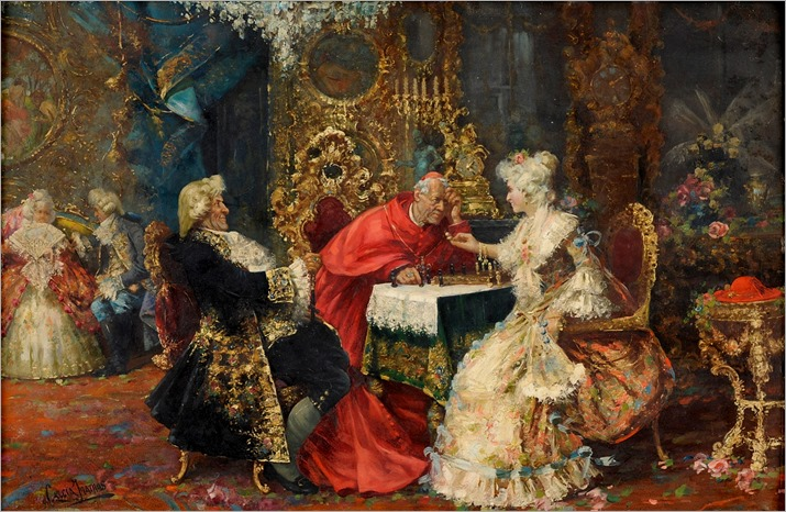 the chess game-Jose Garcia y Ramos