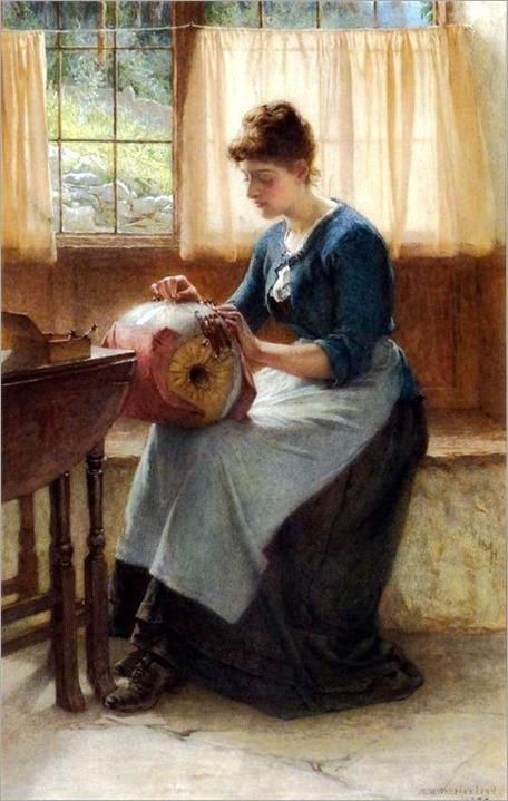 The Lace-Maker ~ 1889 ~ William Harris Weatherhead