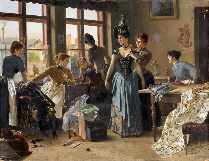The New Dress by Moritz Stifter, 1889 Germany