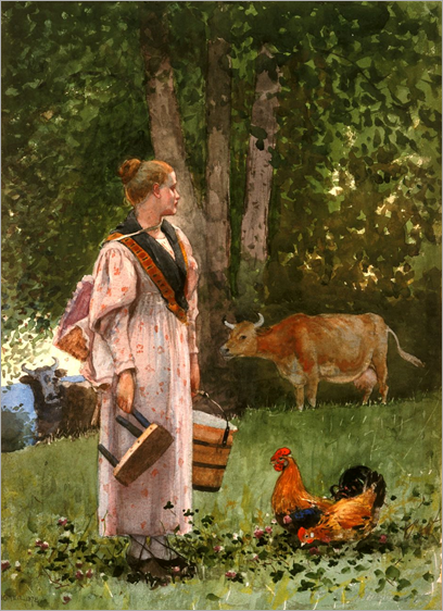 The_Milk_Maid_by_Winslow_Homer,_1878