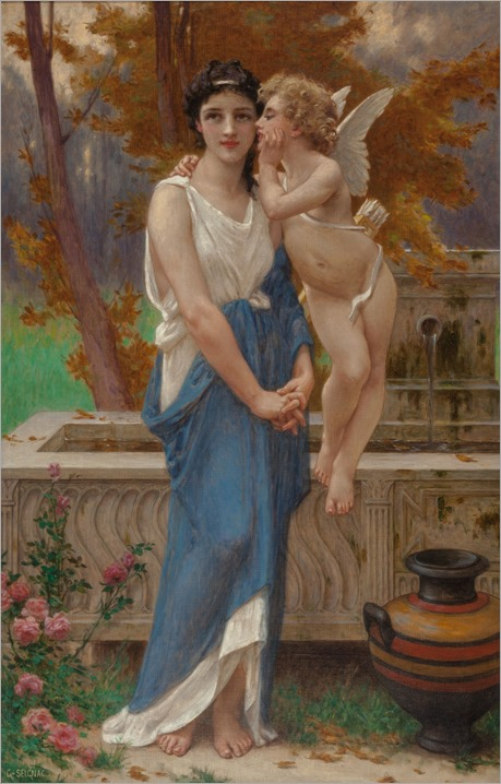 GUILLAUME SEIGNAC (French, 1870-1924). Cupid's Secret
