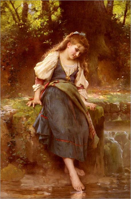 leon jean basile perrault-(1832-1908)le-miroir-de-la-nature