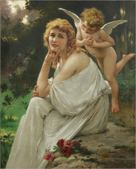 LOVE'S MUSE (PORTRAIT OF MARY PICKFORD)_Guillaume Seignac