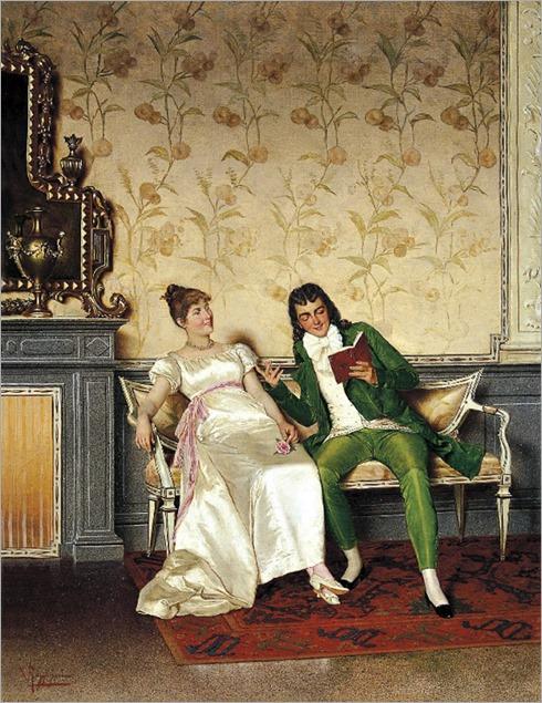 Scena galante by Vittorio Reggianini (Italian, 1858–1938)