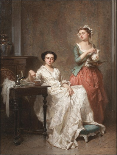 Antoine Emile Plassan (1817-1903) - The morning chocolate