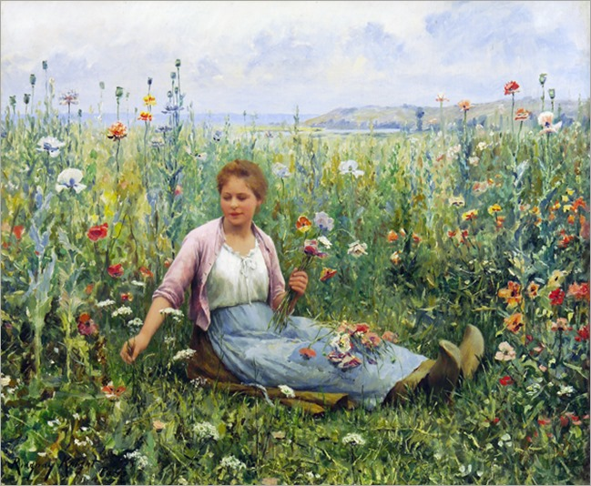 Daniel_Ridgway_Knight__Picking_wildflowers
