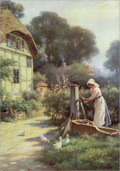 Drawing_water_by_a_cottage_William Kay Blacklock
