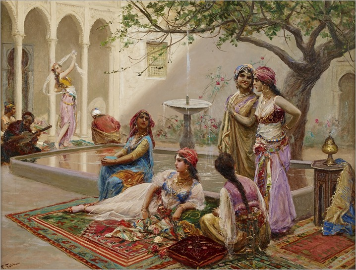 FABIO FABBI, (ITALIAN 1861-1946), IN THE HAREM