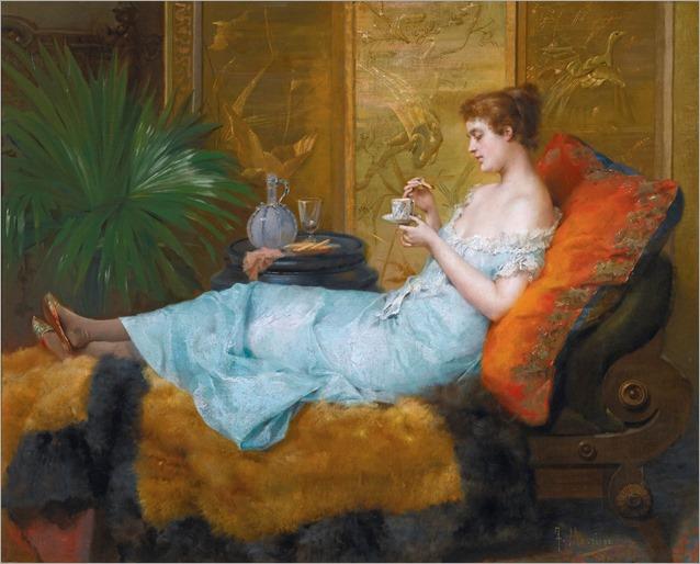 Francisco Masriera (1842 - 1902) - Tea Time, 1897