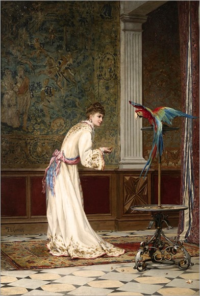 frederik-hendrik-kaemmerer-lady with parrot