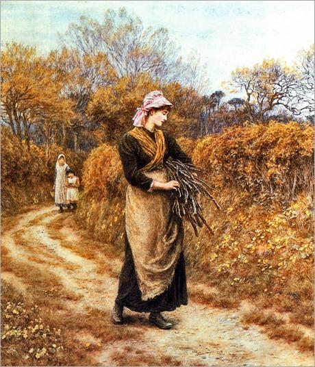 Helen Allingham - Gathering Firewood