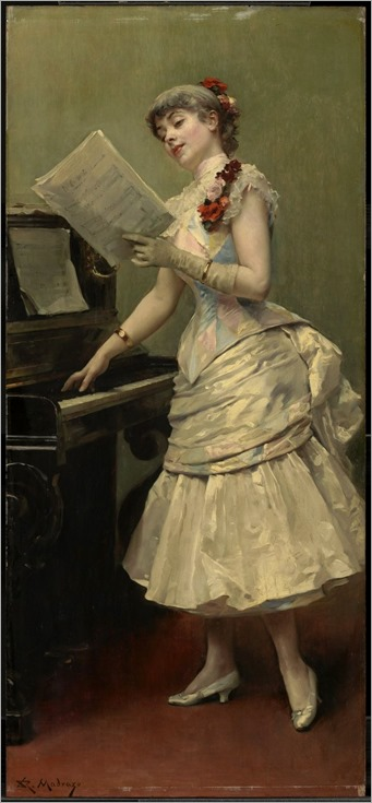 Raimundo de Madrazo y Garreta - The Singer, 1875