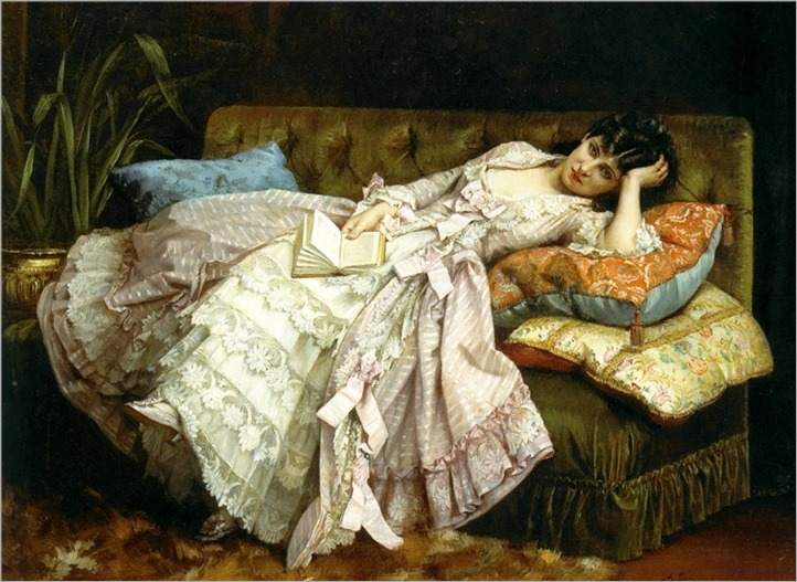 12.Auguste Toulmouche (French, 1829-1896)-dolce far niente