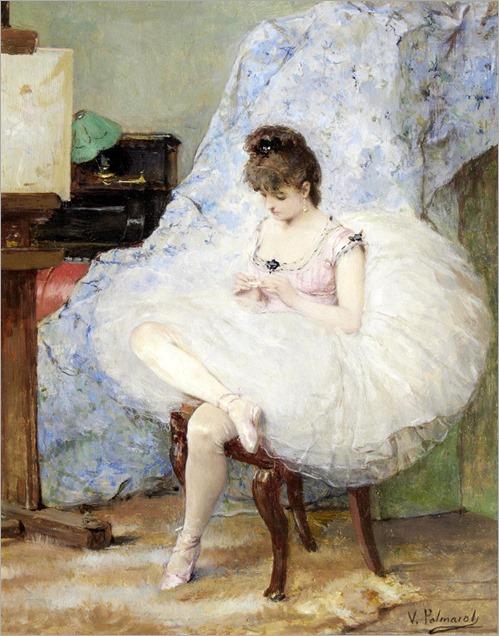 A Ballerina. Vicente Palmaroli Y Gonzalez (Spanish, 1834-1896).