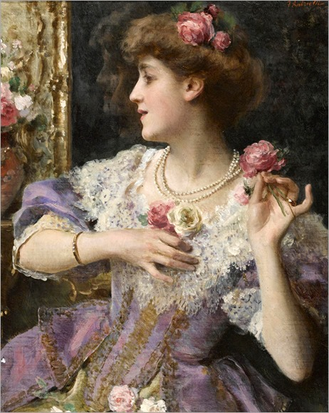 A moment's reflection - Federico Andreotti (1847 - 1930)