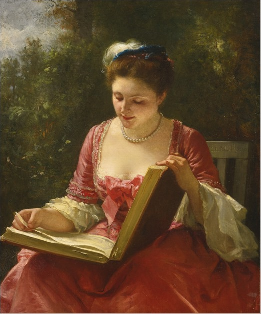 An Afternoon's Delight. Leopold Carl Müller (German, 1834-1892)