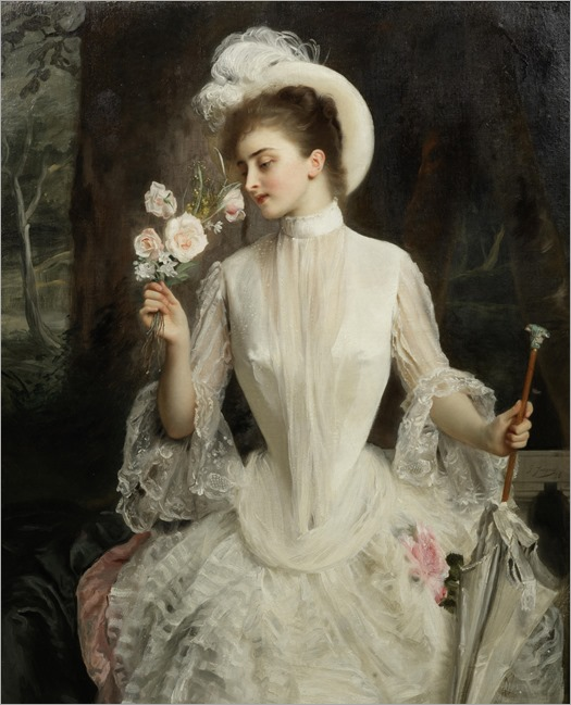 An Elegant Bouquet (1886). Gustave-Jean Jacquet (French, 1846-1909)