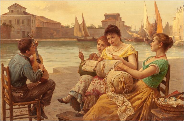 ANTONIO ERMOLAO PAOLETTI (Italian, 1834-1912) _Venetian Lacemakers
